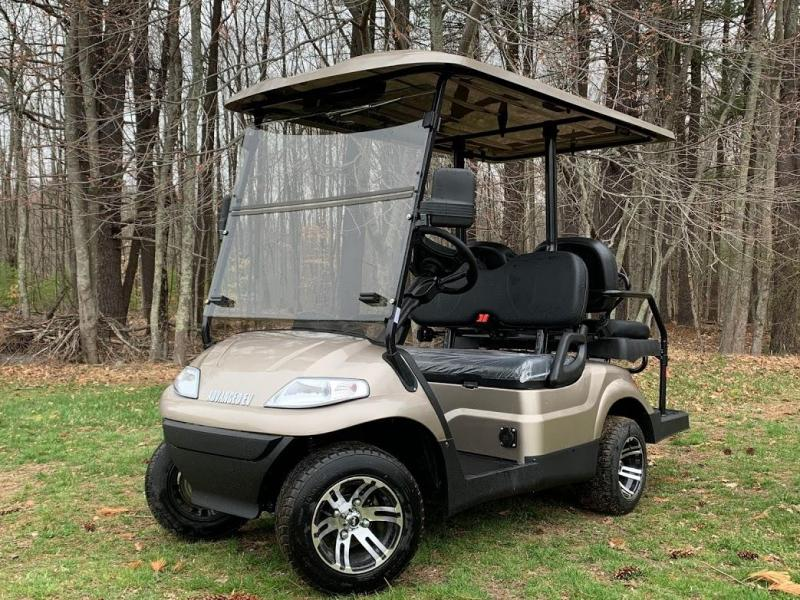 Summer Special!! 25 MPH NEW AEV LUXURY 48 Volt 4 PERSON electric golf car-Champagne