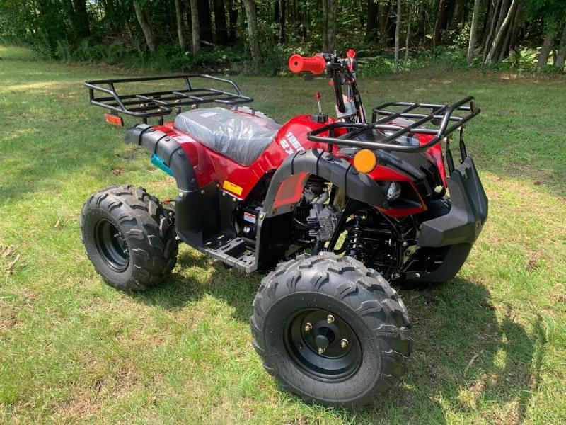 Summer Special! New Vitacci RIder 8 125CC youth  ATV 2WD w/reverse-Burgundy-30MPH
