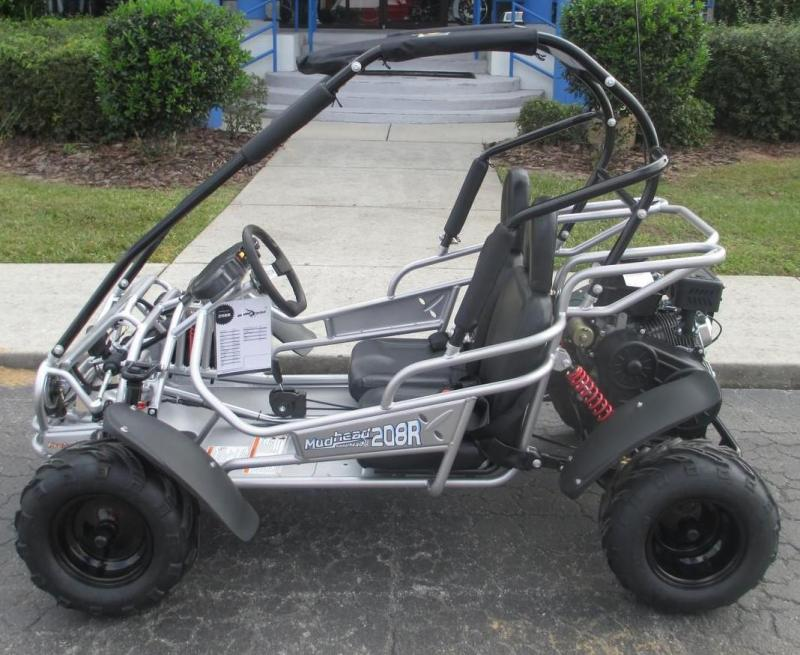 Holiday Special! NEW Hammerhead MudHead 208R Go Kart ages 8-13-Silver