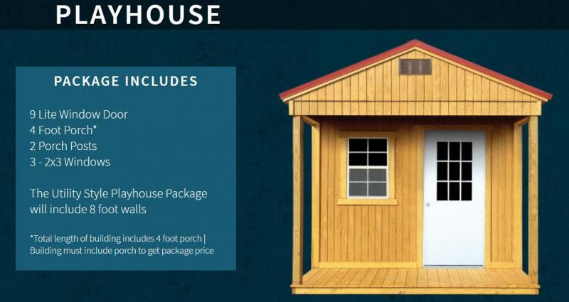 Brand New Old Hickory Playhouse Utility Shed 8' x 8'