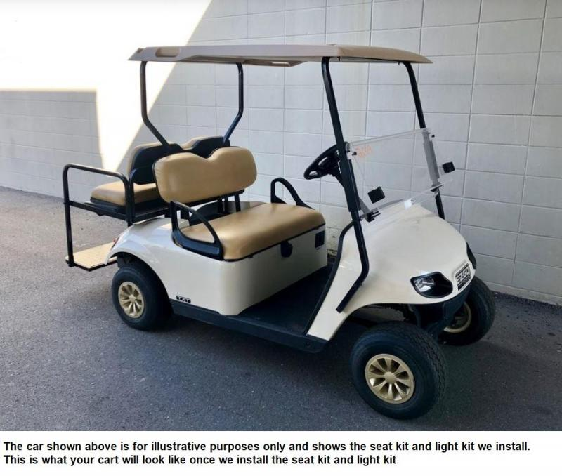 JUST IN! 2014 EZGO TXT GAS 4 pass golf cart in great condition-White