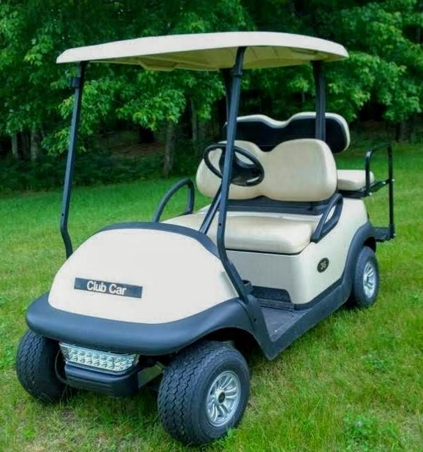Club Car Precedent 4 Person 48 volt BEIGE 2019 BATTERIES w/LED LIGHTS