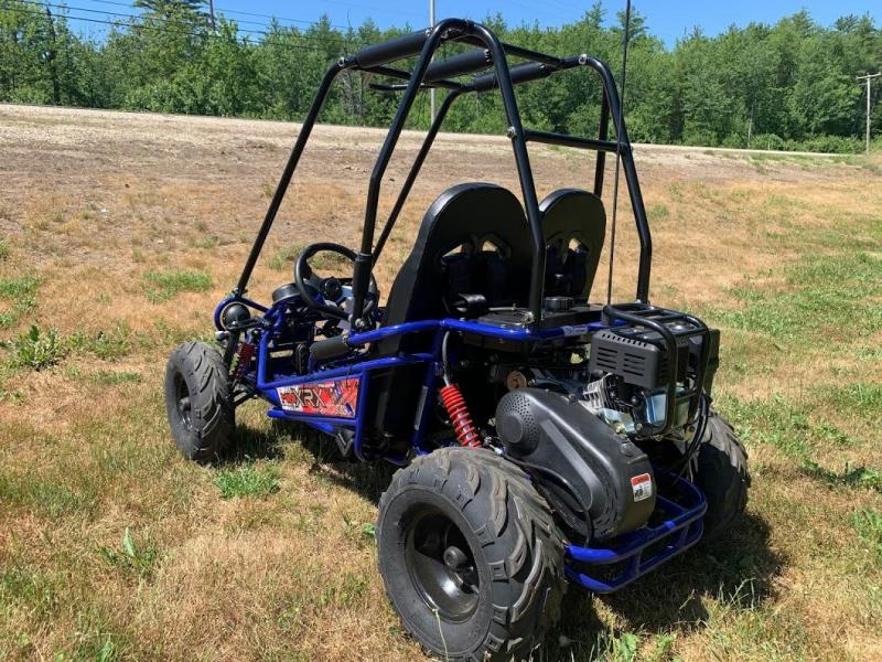 Trailmaster Mini XRX/R+ Go Kart Youth size ages 4-9 Blue 12 MPH
