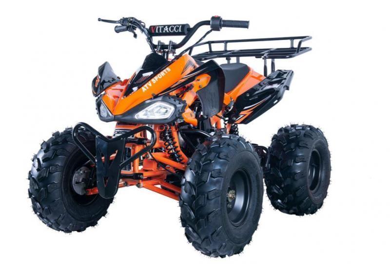 Summer Special! New Vitacci Jet 9 125CC youth ATV 2WD w/reverse-Orange-30MPH