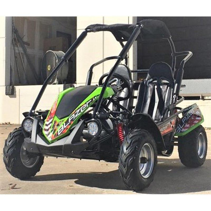 NEW Trailmaster Blazer 200-G 31MPH Go Kart Youth size ages 7-12 GREEN