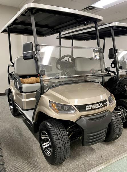 25 MPH NEW AEV Advent  LUXURY 48 Volt 4 PERSON electric golf car-Champagne