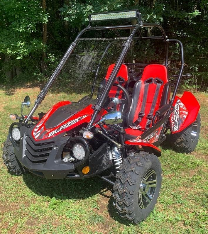 NEW Trailmaster Blazer 200-EX EFI Go Kart Teen-Adult 43MPH Red!