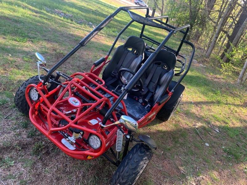 Trailmaster 200E XRS Fuel Injected 43 MPH Go Kart Teen-Adult RED