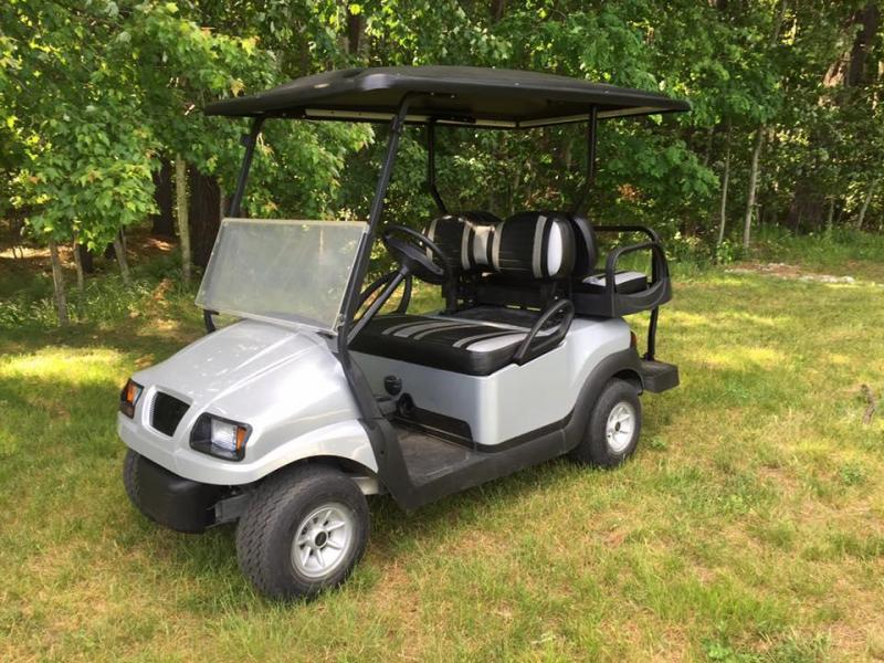 Custom Club Car Precedent Phantom Silver-Black 4 passenger GOLF CART