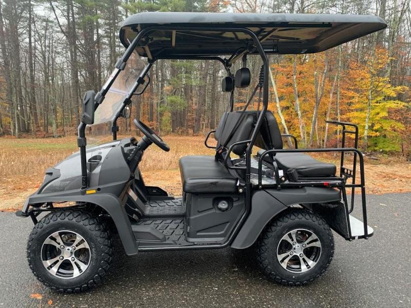 Taurus 200GX 25 MPH Fuel Injected GAS 4 pass golf car style UTV w/Hi-Lo gears-Carbon Fiber