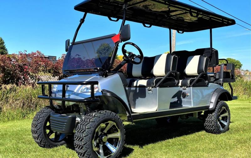 Evolution LIFTED 6 Passenger STREET LEGAL LSV LIMO 25MPH golf car SILVER