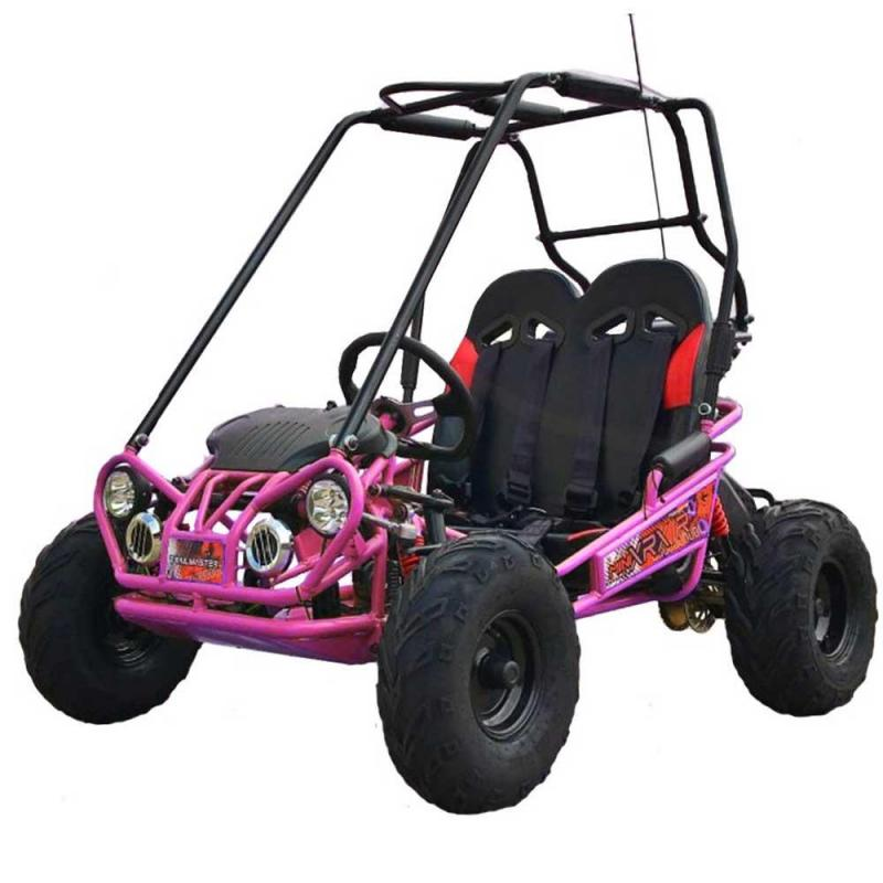 Trailmaster Mini XRX+ Go Kart Youth size ages 5-9 PINK 12MPH