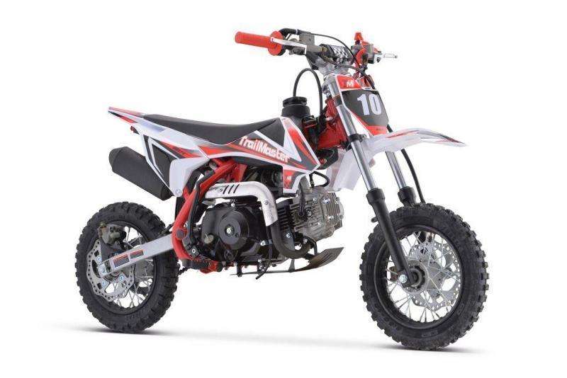 Fall Special! New TrailMaster TM10 Kids Trailmaster TM11 110cc Dirt Bike, Automatic Clutch Electric Start