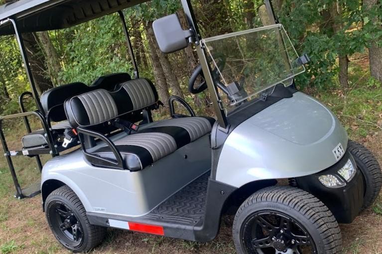 2021 Mid-South EZGO RXV LSV 25MPH Street Legal 4 pass golf cart-Silver