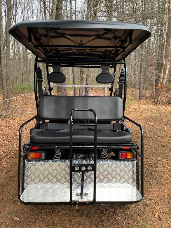 Taurus 200GX 25 MPH GAS 4 pass golf car style UTV w/Hi-Lo gears-Blue