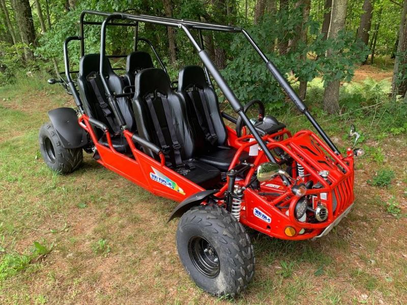 NEW Trailmaster XRS 300 Fuel Injected 4 Passenger Family Go Kart 45MPH RED