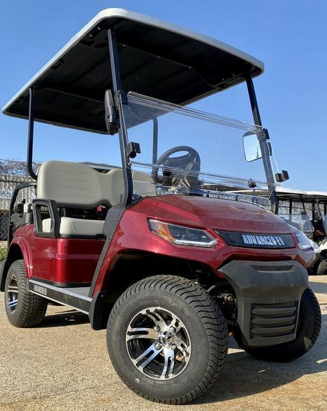 25 MPH NEW AEV Advent  LUXURY 48 Volt 4 PERSON electric golf car-Burgundy