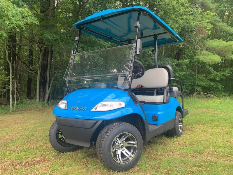 Summer Special!! 25 MPH NEW AEV LUXURY 48 Volt 4 PERSON electric golf car-Sky Blue