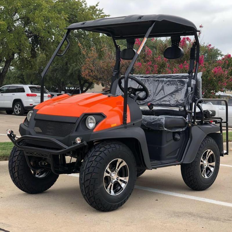 Eagle 200GX 25 MPH GAS 4 pass golf car style UTV-Orange