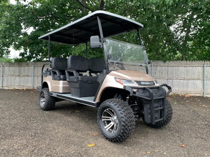 AEV Advent  LUXURY 48 Volt 6 PERSON electric golf car LIMO 22MPH-Champagne  (compare to ICON i60L)