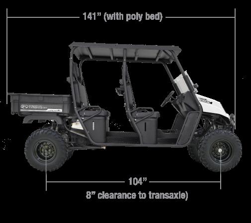 American Landmaster 700 Power Steering 4WD UTV 4 PERSON CREW