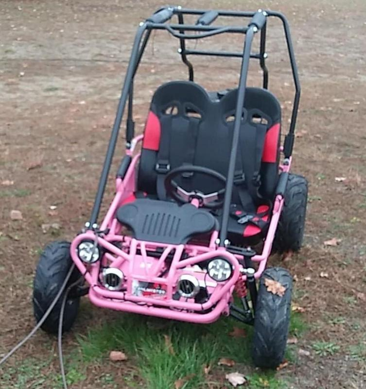 Trailmaster Mini XRX/R+ Go Kart Youth size ages 4-9 Pink 12 MPH