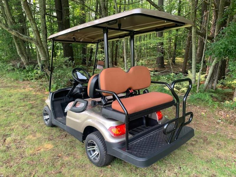 Fall Special!! 25 MPH NEW AEV LUXURY 48 Volt 4 PERSON electric golf car-Champagne (compare to ICONi40)