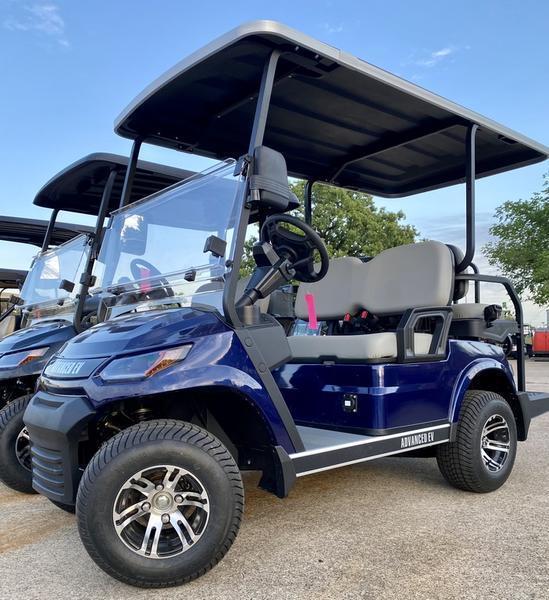 25 MPH NEW AEV Advent  LUXURY 48 Volt 4 PERSON electric golf car-BLUE