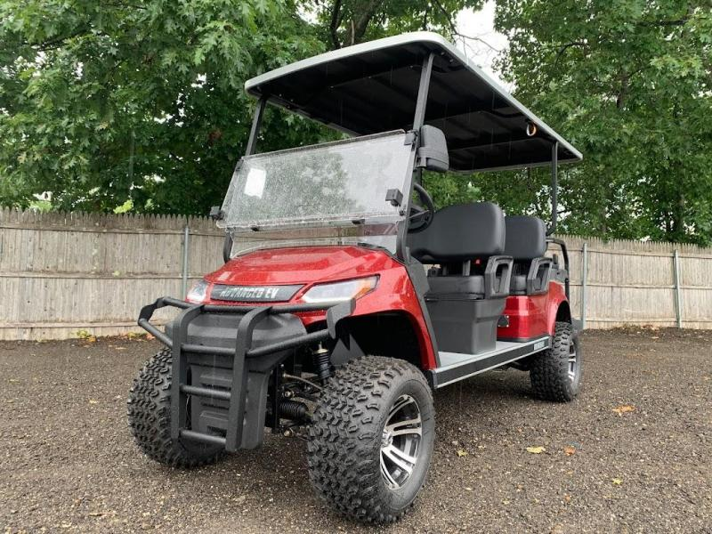 AEV Advent  LUXURY 48 Volt LIFTED 6 PERSON electric golf car LIMO 22MPH-Burgundy