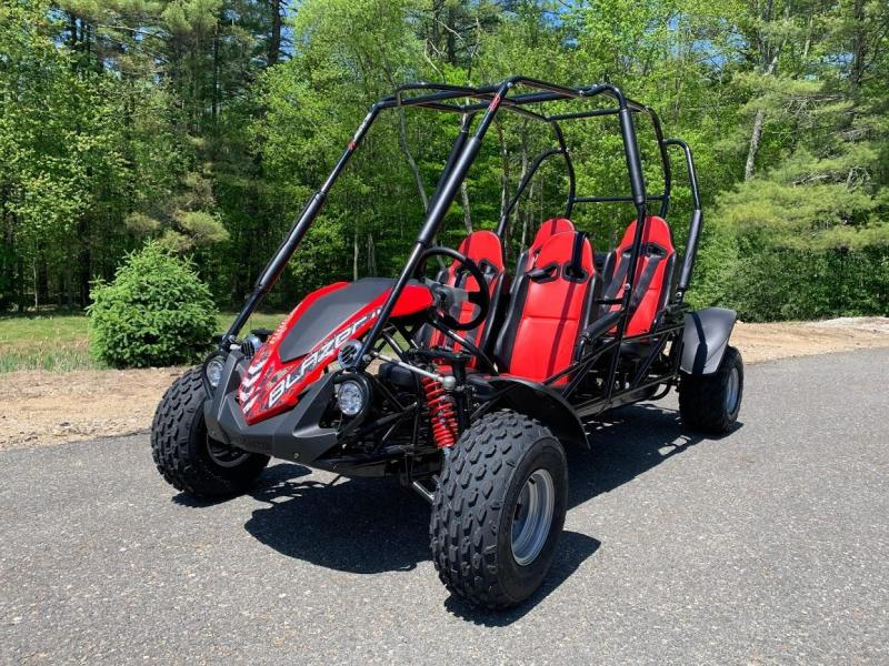 NEW Trailmaster Blazer 200X 4 Passenger Family Go Kart 28MPH RED