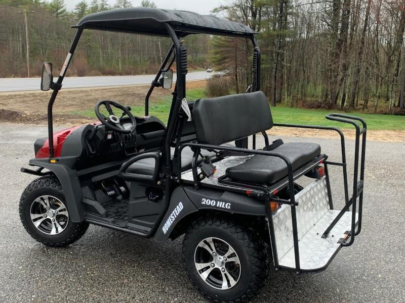 Bighorn 200GVXT 25 MPH GAS 4 pass golf car style UTV w/Hi-Lo gears-RED