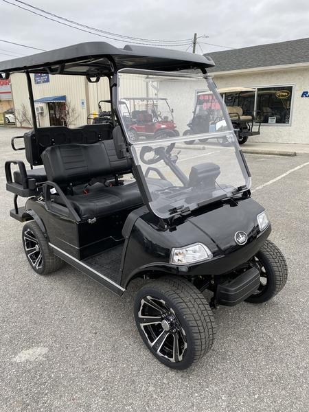 "New Evolution Classic 4 ""PLUS"" STREET LEGAL LSV 25MPH golf car Black"