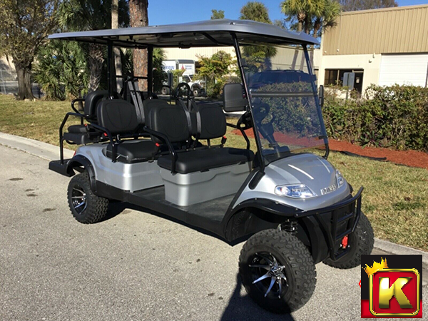 2021 Advanced EV LUXURY 48 Volt 6 PASS LIFTED golf cart limo-Silver  (compare to ICON i60L)