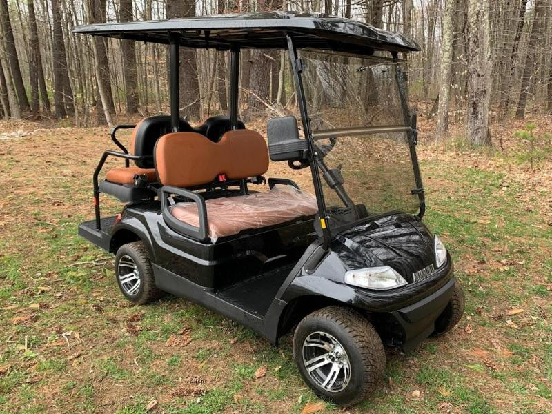 Spring Special!! 25 MPH NEW AEV LUXURY Street Legal LSV 48 Volt 4 PERSON electric golf car-Black