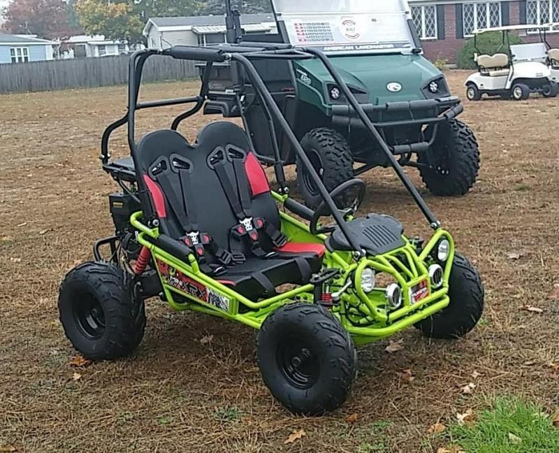 Trailmaster Mini XRX/R+ Go Kart Youth size ages 4-9 12 MPH Green