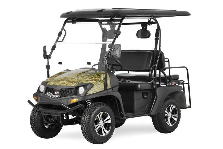 Taurus 200GX 25 MPH GAS 4 pass golf car style UTV w/Hi-Lo gears-CAMO