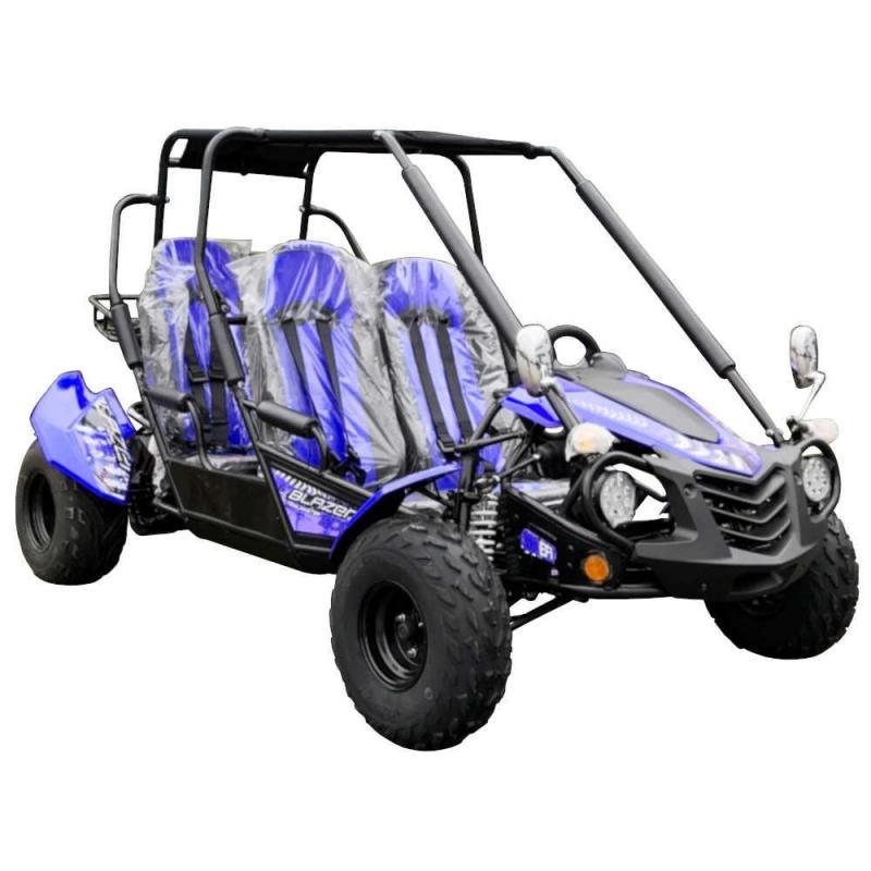 NEW Trailmaster Blazer 200EX EFI 4 Passenger Family Go Kart 28MPH BLUE