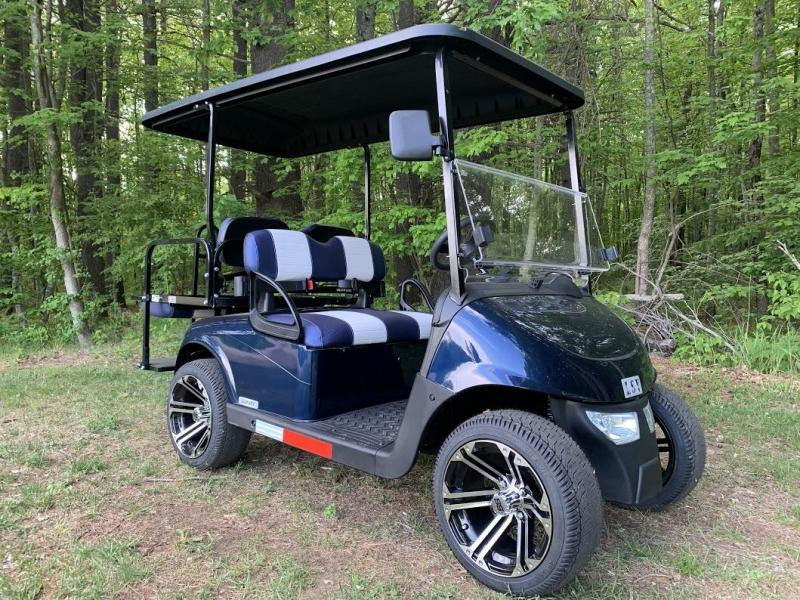 2020 Mid-South EZGO RXV 25MPH Street Legal 4 pass golf cart-Navy Blue