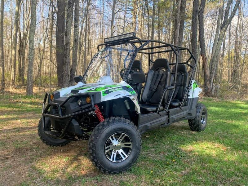Special Offer! Trailmaster Challenger4 200EX 4 Passenger SIDE BY SIDE SPORT UTV WHITE