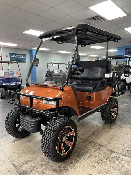 New Evolution LIFTED STREET LEGAL LSV 25MPH golf car COPPER