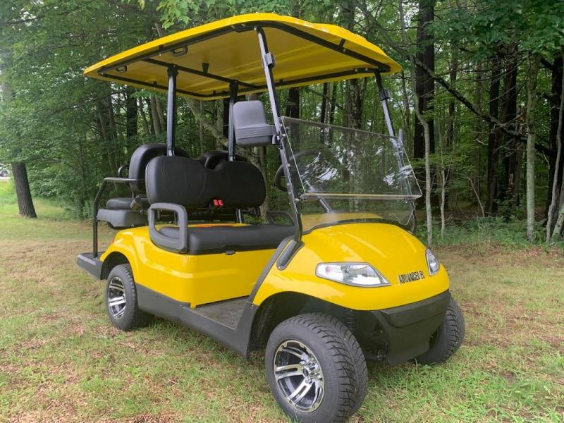 Summer Special!! 25 MPH NEW AEV LUXURY 48 Volt 4 PERSON electric golf car-Yellow