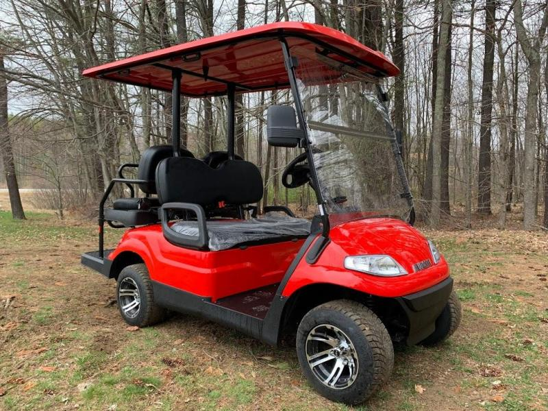 Spring Special!! 25 MPH NEW AEV LUXURY Street Legal LSV 48 Volt 4 PERSON electric golf car-RED