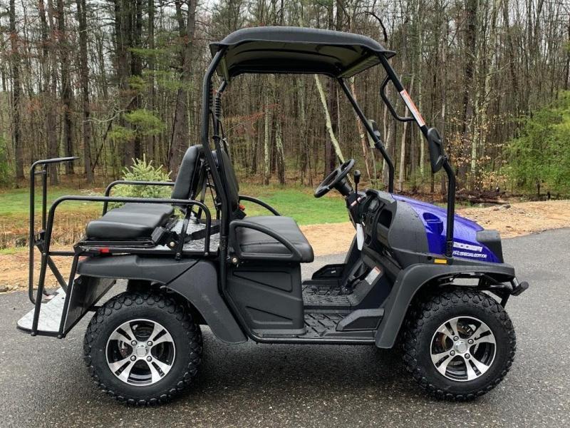 Bighorn 200GVXT 25 MPH GAS 4 pass golf car style UTV w/Hi-Lo gears-BLUE