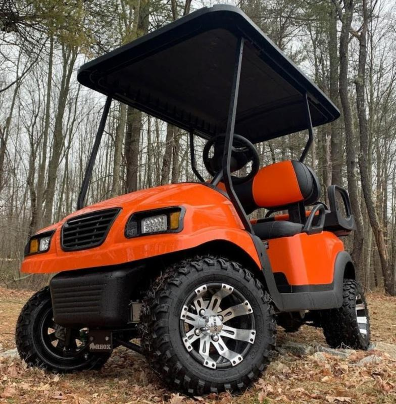 Spring Special! Custom 4 PASS Club Car Phantom GAS EFI LIFTED-ORANGE