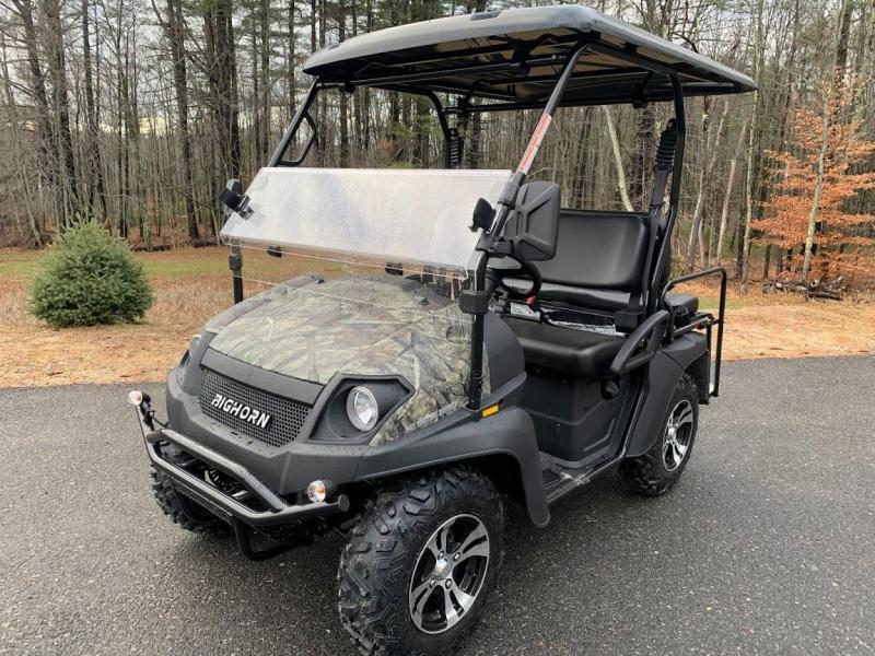 Bighorn/Taurus 200GX 25 MPH GAS 4 passenger golf car style UTV CAMO
