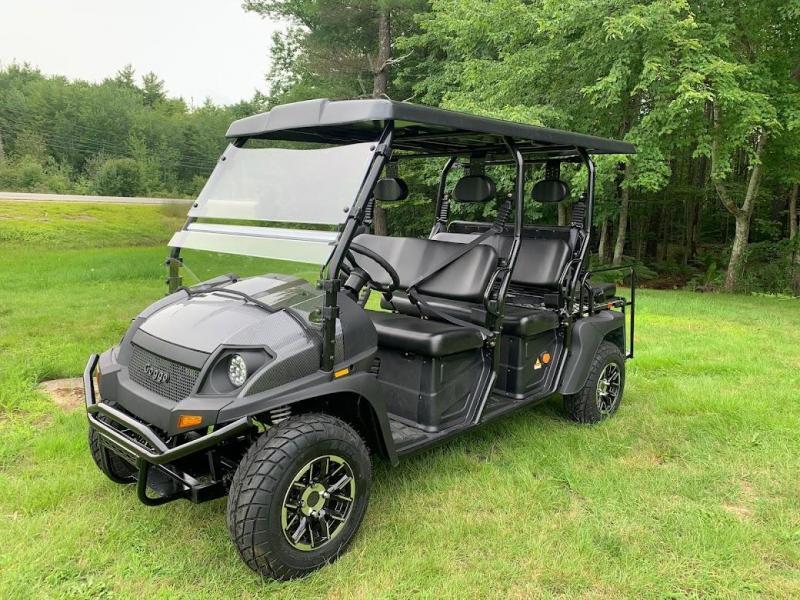 Bighorn Street Legal LSV 6 passenger UTV style golf cart limo-Carbon Fiber