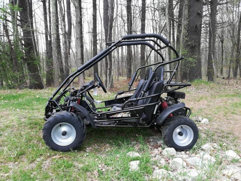 NEW Trailmaster Mid XRX-R Go Kart Youth size ages 7-12 REVERSE 31 MPH BLACK