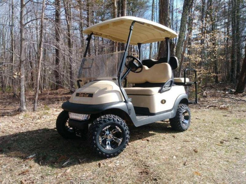"Club Car Precedent Electric 4 pass BEIGE golf car 4"" LIFT KIT-NICE"