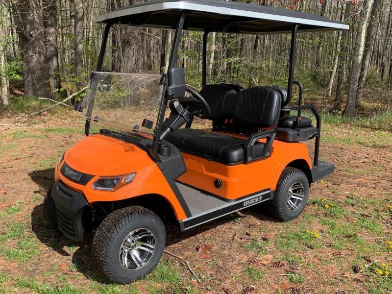 25 MPH NEW AEV Advent  LUXURY 48 Volt 4 PERSON electric golf car-Orange