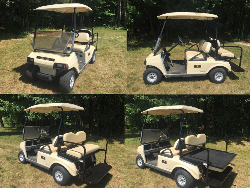 Club Car DS GAS 4 pass golf cart w/new fold down seat kit & LED lights